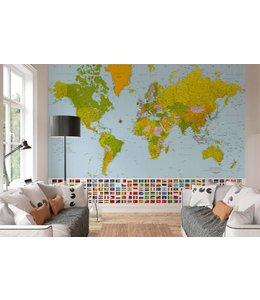 W+G Fotobehang Wereldkaart