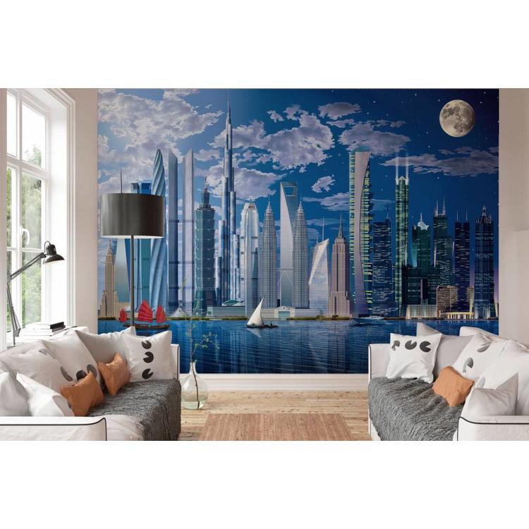 Hoge gebouwen  - Fotobehang 366 x 254 cm