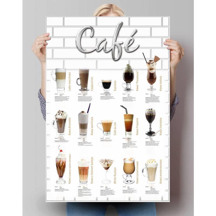 Café - polska  - Poster 61 x 91.5 cm
