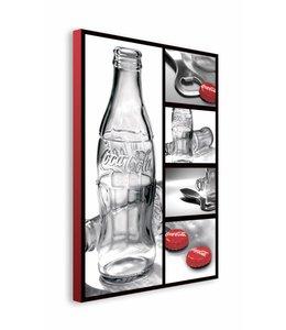 Schilderij Coca-Cola flesjes