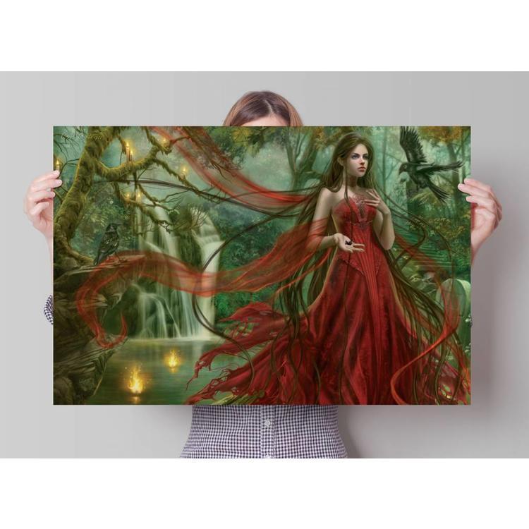 Cris Ortega Scarlett & Ravens  - Poster 91.5 x 61 cm