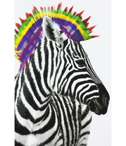 Schilderij Zebra Punk