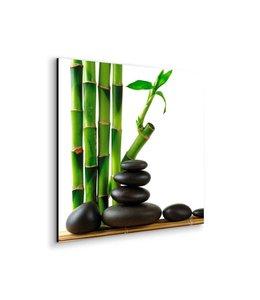 Schilderij Zen Groen