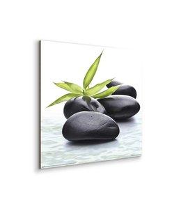 Schilderij Zen Groen blad
