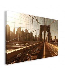 Schilderij New York Brooklyn Bridge