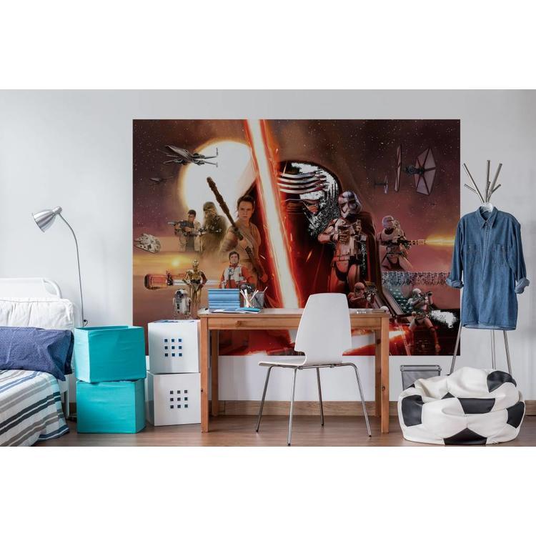 Star Wars Force Awakens  - Fotobehang 254 x 184 cm