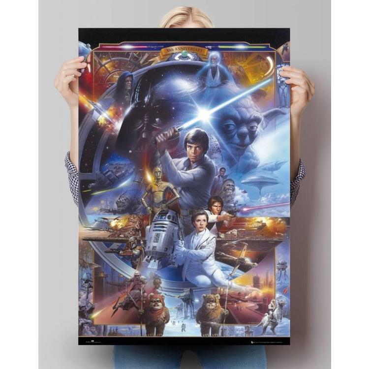 Star Wars 30-jarig jubileum  - Poster 61 x 91.5 cm