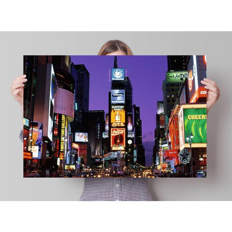New York Times Square 's nachts  - Poster 91.5 x 61 cm