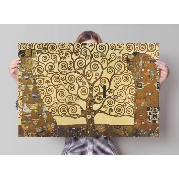 Klimt levensboom  - Poster 91.5 x 61 cm