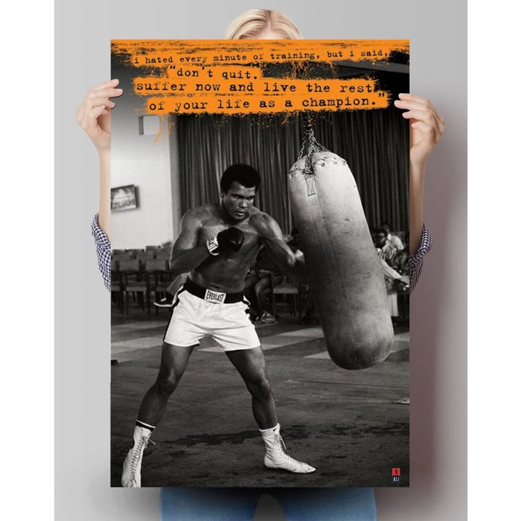 Muhammad Ali - hated every minute  - Poster 61 x 91.5 cm