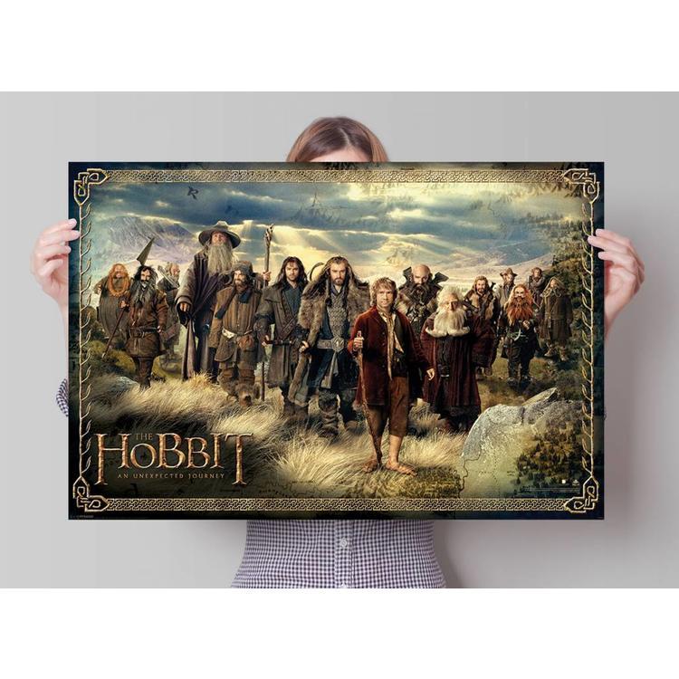 Hobbit cast  - Poster 91.5 x 61 cm