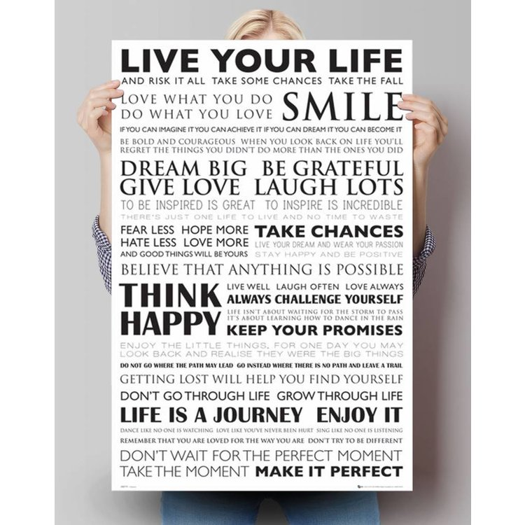 Live Your Life  - Poster 61 x 91.5 cm