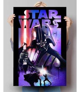 Poster Star Wars Darth Vader lichtzwaard