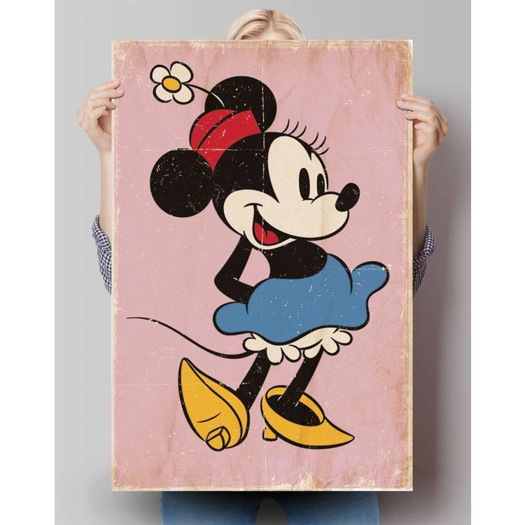 Minnie Mouse retro  - Poster 61 x 91.5 cm