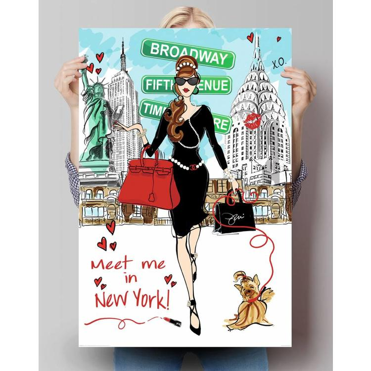 Meet me in New York  - Poster 61 x 91.5 cm