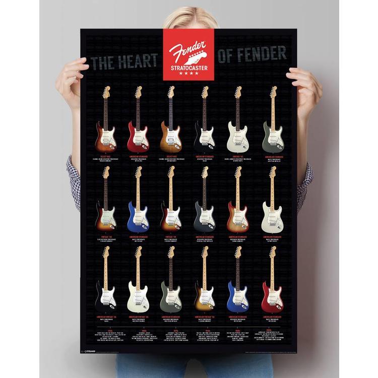Fender gitaar  - Poster 61 x 91.5 cm
