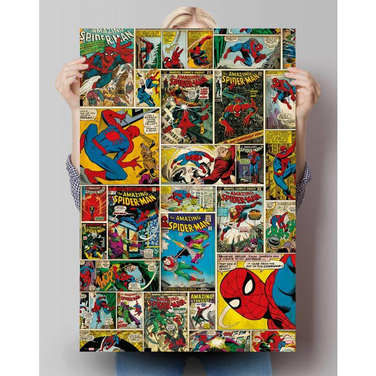 Marvel spiderman comic covers  - Poster 61 x 91.5 cm