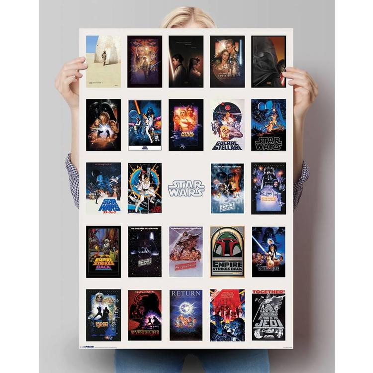 Star Wars alle filmposters  - Poster 61 x 91.5 cm