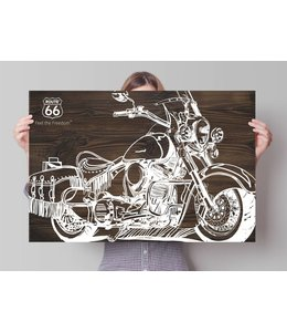 Poster Route 66 - motorfiets