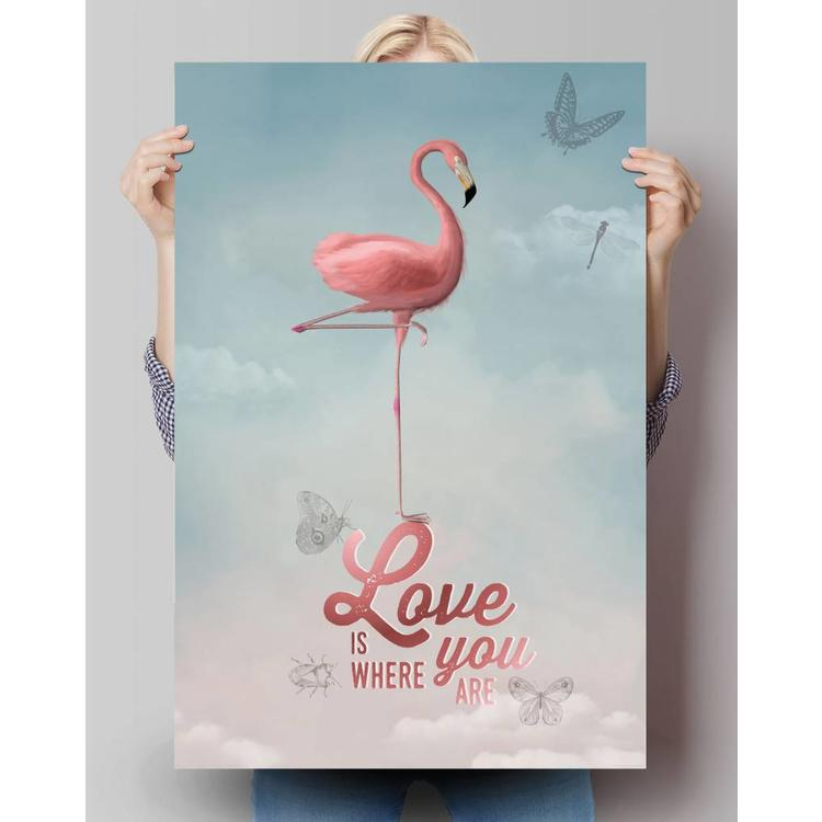 Flamingo Chic  - Poster 61 x 91.5 cm