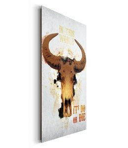 Schilderij Buffelschedel