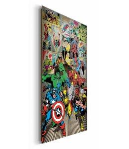 Schilderij Marvel helden