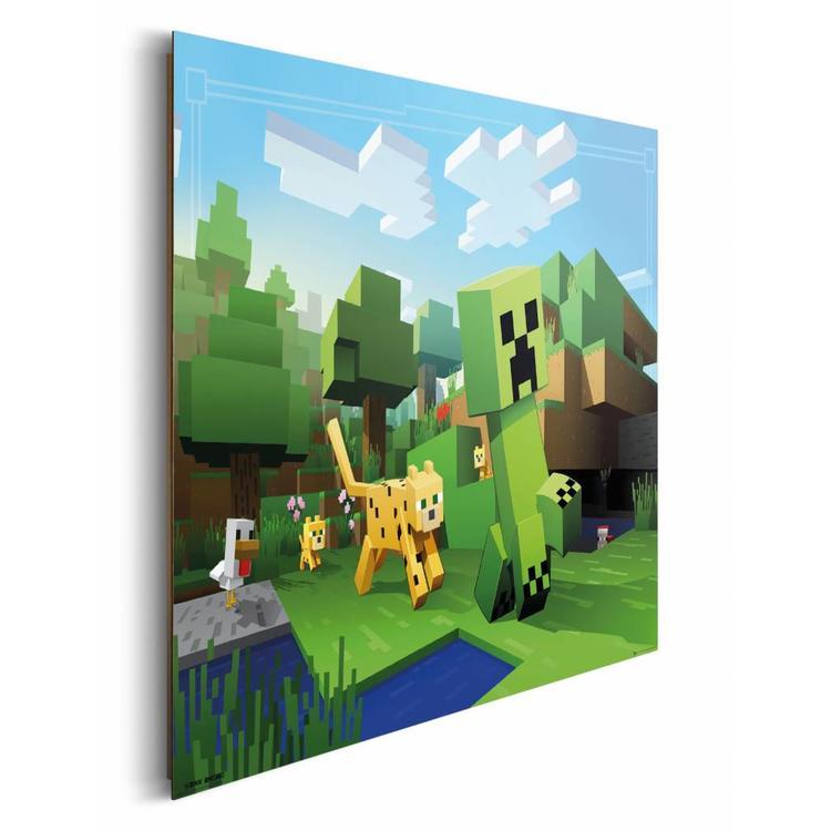 Minecraft  - Schilderij 90 x 60 cm