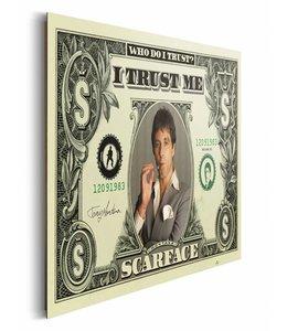 Schilderij Scarface dollar