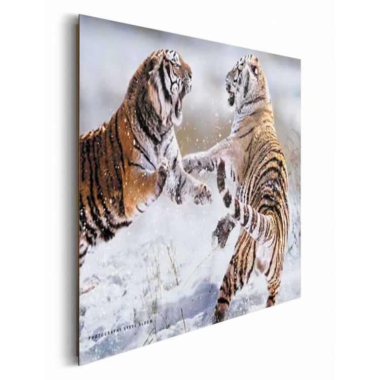 Siberische tijger  - Schilderij 90 x 60 cm