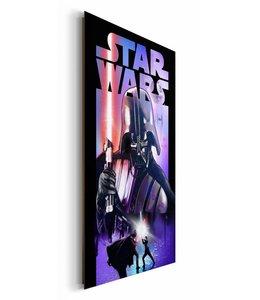 Schilderij Star Wars Darth Vader lichtzwaard