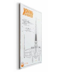 Schilderij STAR WARS EPISODE VII THE FORCE AWAKENS x-wing