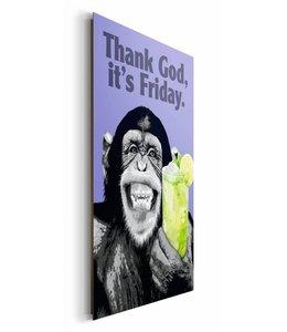 Schilderij The Chimp vrijdag