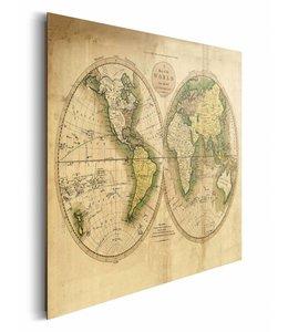 Schilderij Wereldkaart antiek