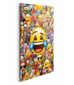 Schilderij Emoji - collage