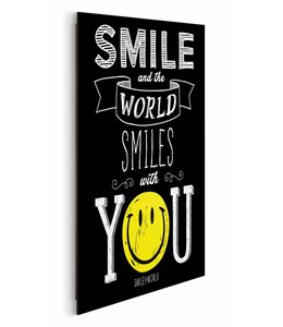 Schilderij Smiley - world smiles with you