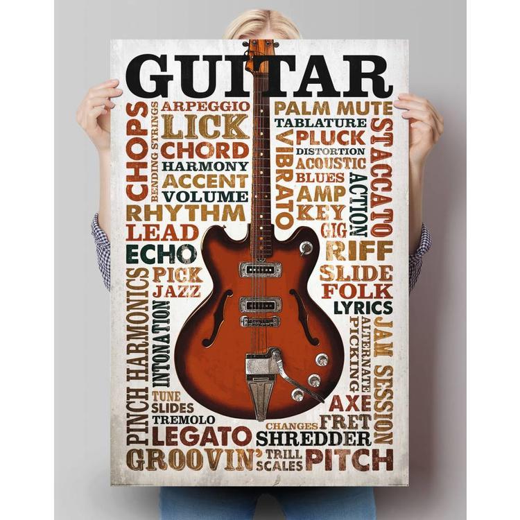 Gitaar Lingo  - Poster 61 x 91.5 cm