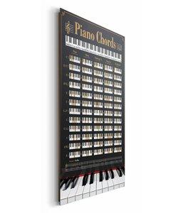 Schilderij Piano akkoorden
