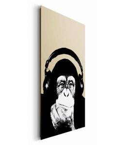 Schilderij Steez chimpansee