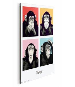 Schilderij Chimpansee pop