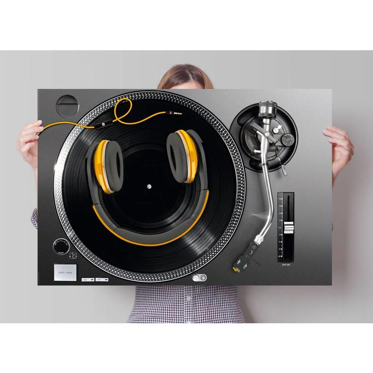 Draaitafel  - Poster 91.5 x 61 cm