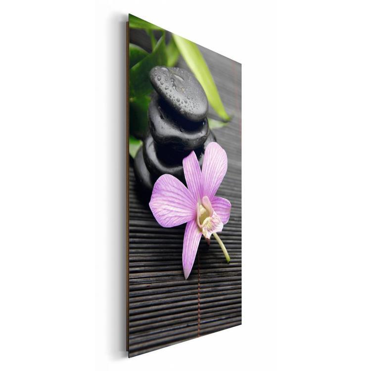 Zen Bloem  - Schilderij 60 x 90 cm