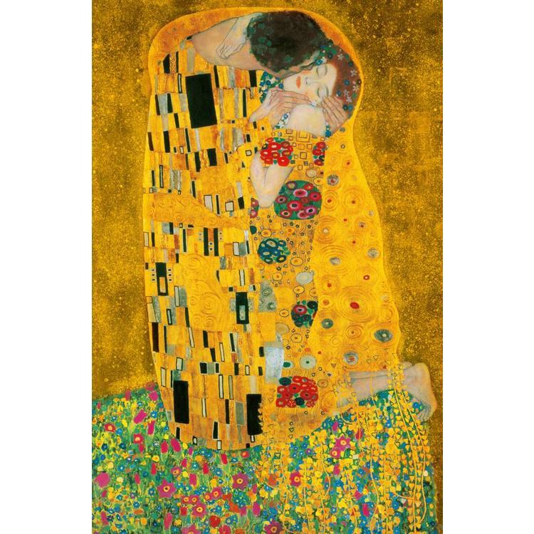 Klimt, De Kus  - Poster 115 x 175 cm