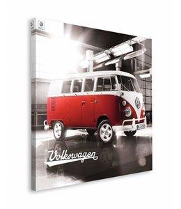 Schilderij VW camper rood en wit