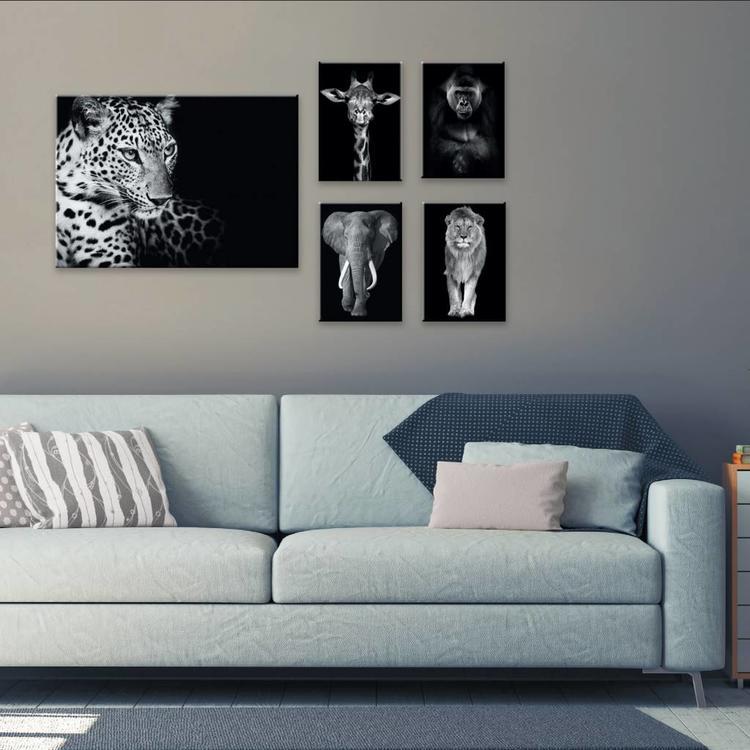 Wilde dieren  - Canvas Set 50 x 70 cm