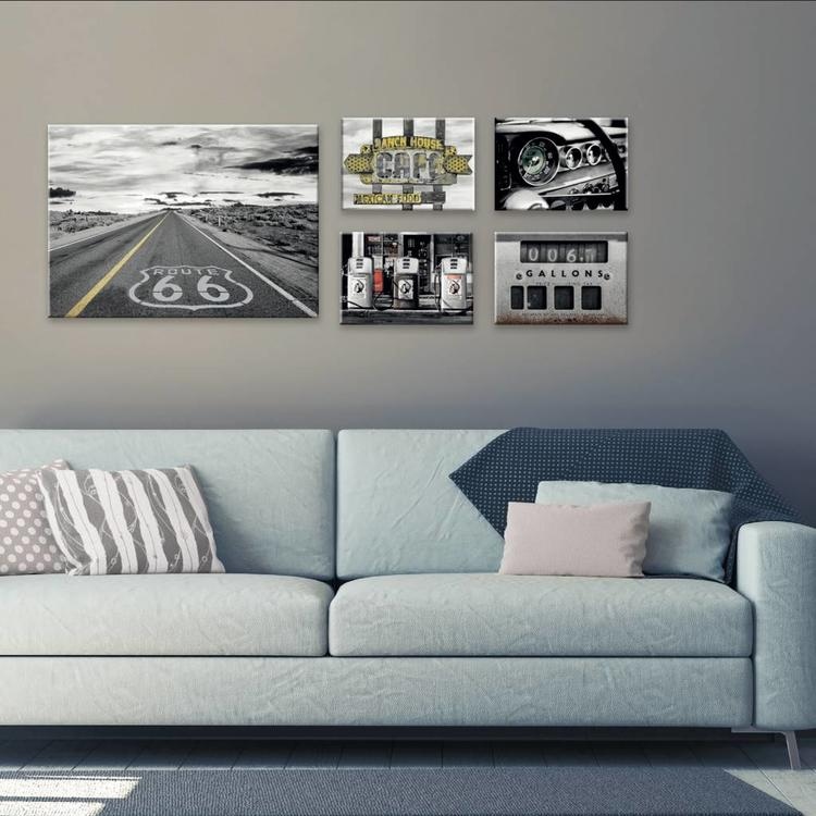 ROUTE 66  - Canvas Set 50 x 70 cm
