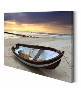 Schilderij Boot en strand