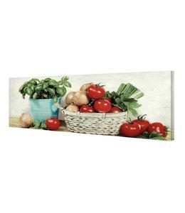 Schilderij De italiaanse keuken