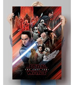 Poster Star Wars Episode VIII - red montage