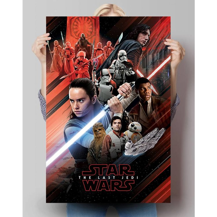 Star Wars  -The Last Jedi - Episode 8- red montage  - Poster 61 x 91.5 cm