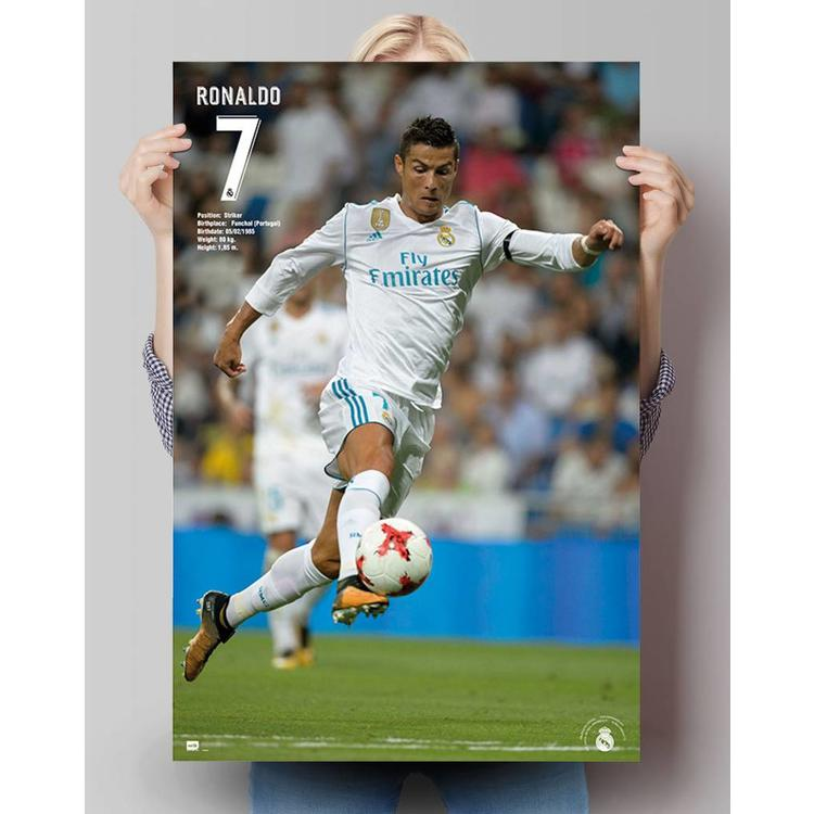 Cristiano Ronaldo Real Madrid 17/18 - Poster 61 x 91.5 cm